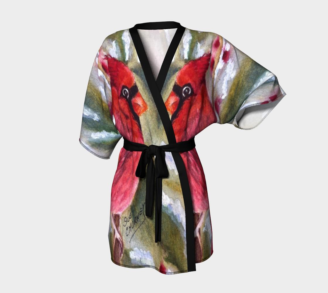 Red Cardinal Kimono Robe preview