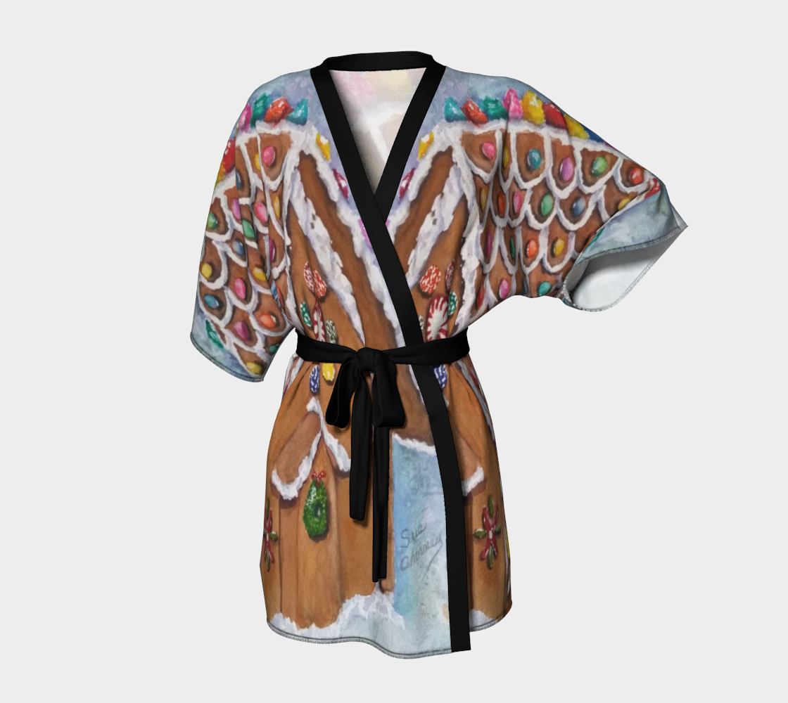 Gingerbread House Kimono Robe preview