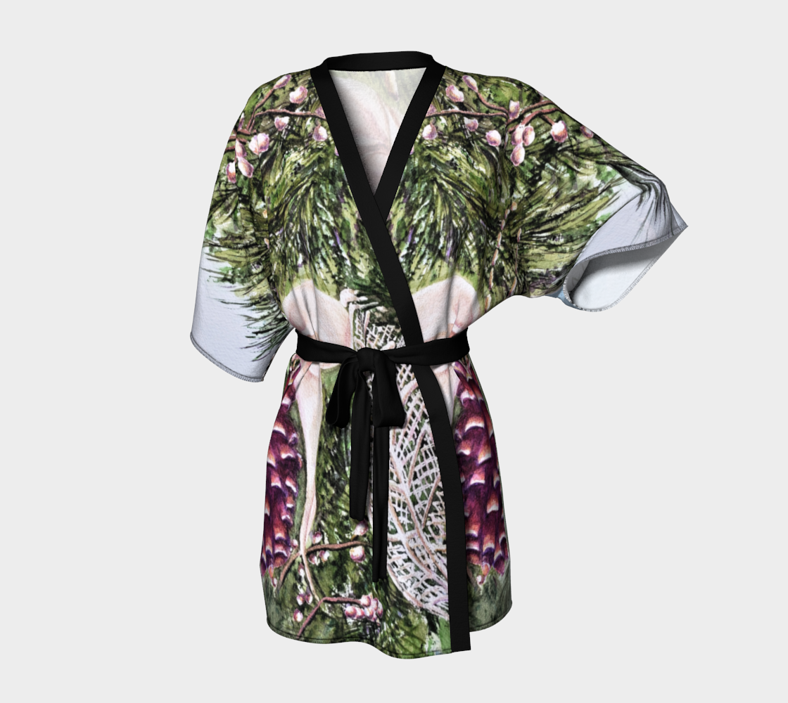 Decorative Pine Cone Kimono Robe preview