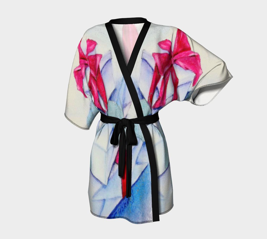 Red and Silver Bows Kimono Robe preview