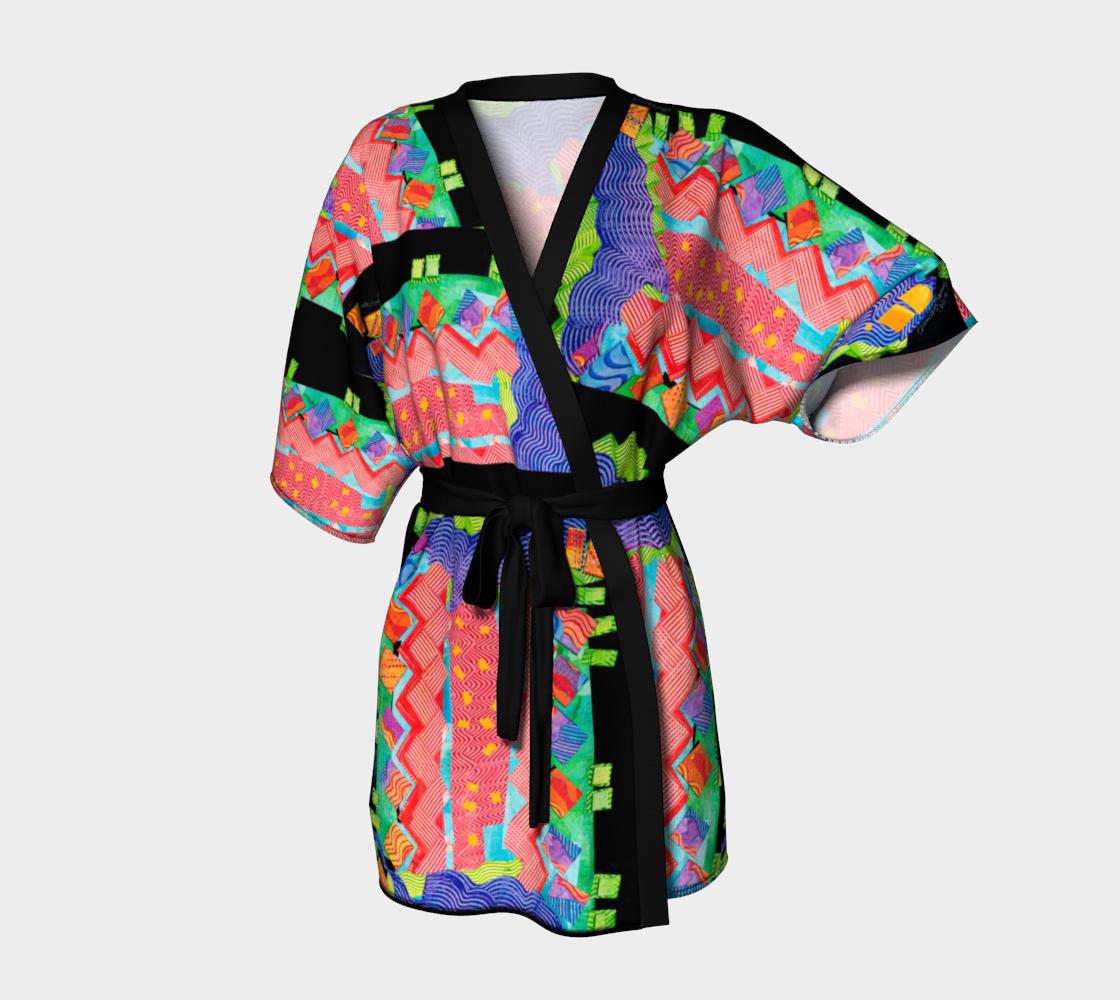 Kimono Zig Zag Tomato #1 Collage preview