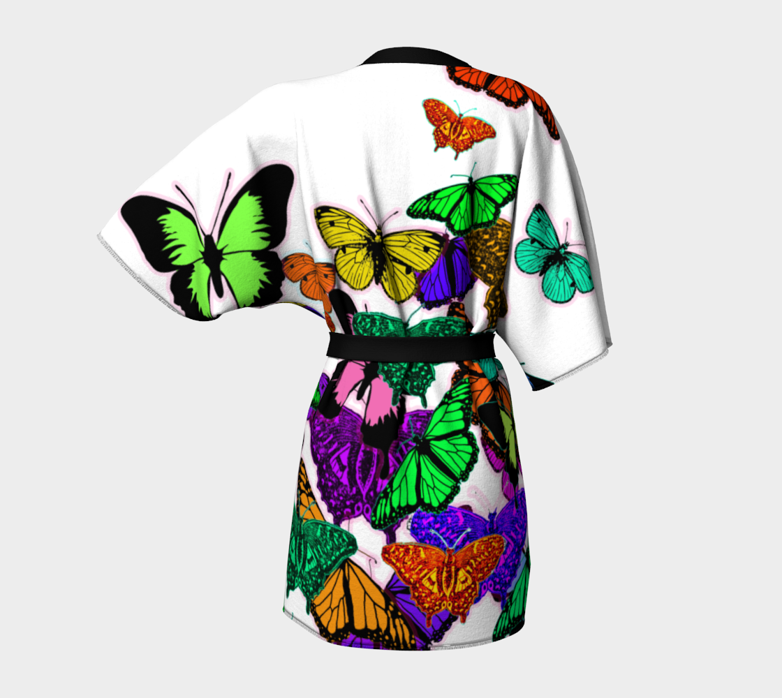 Colorful Butterflies on White preview #4