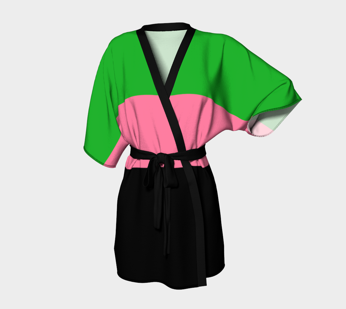 Spring Green, Hot Pink and Black preview