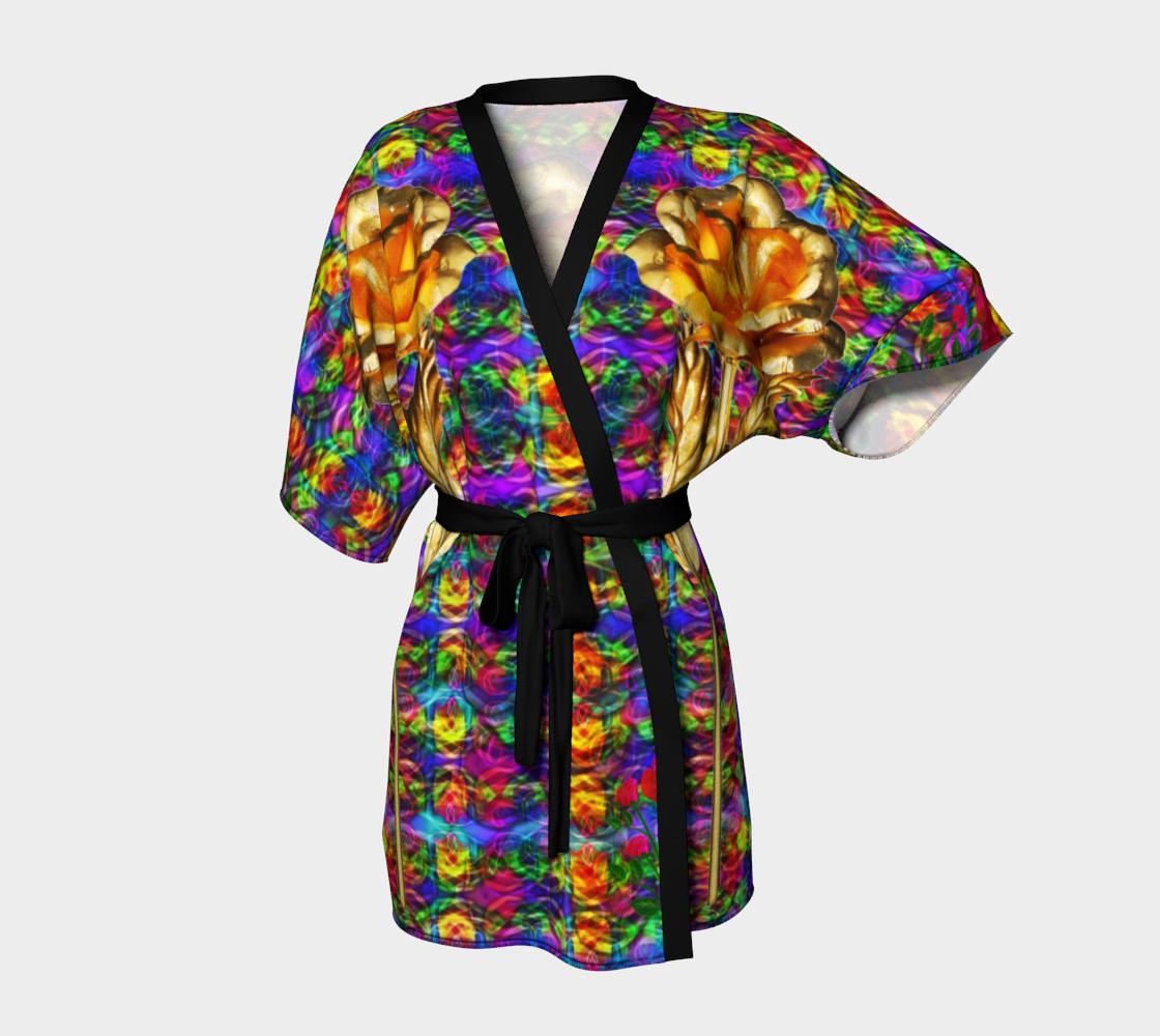 GoldenRose kimono preview