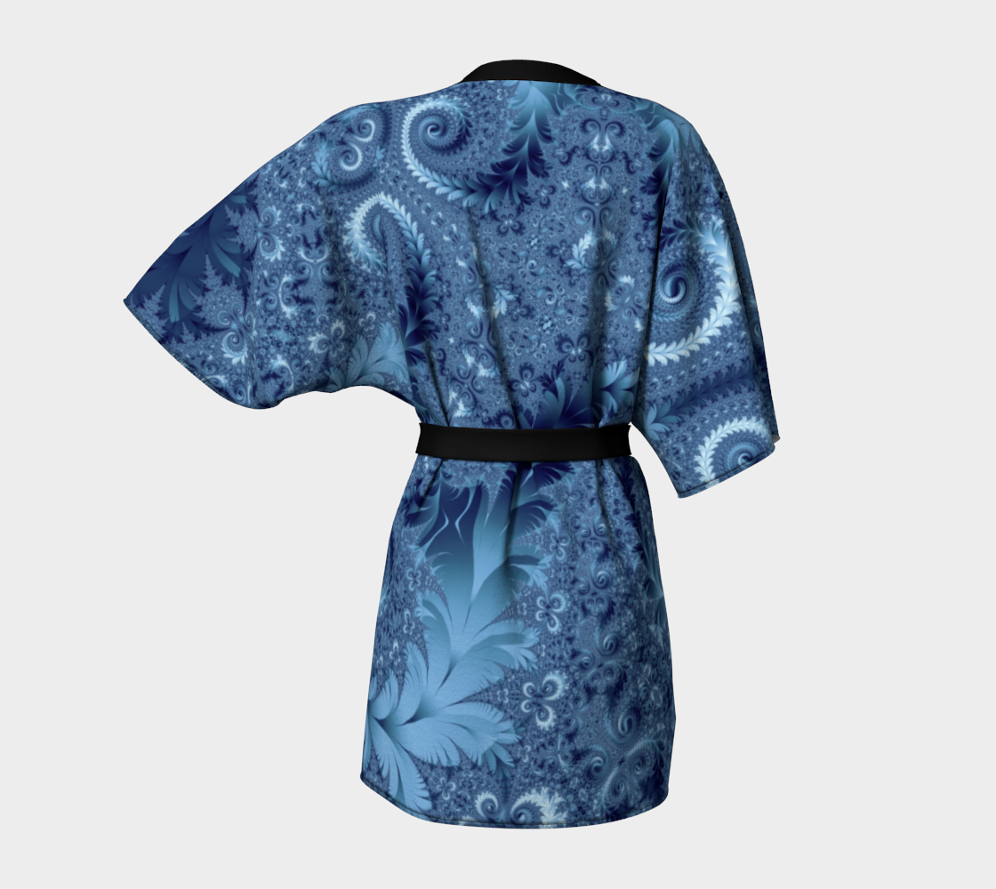 Decorative Light Blue Fern Spirals Pattern preview #4