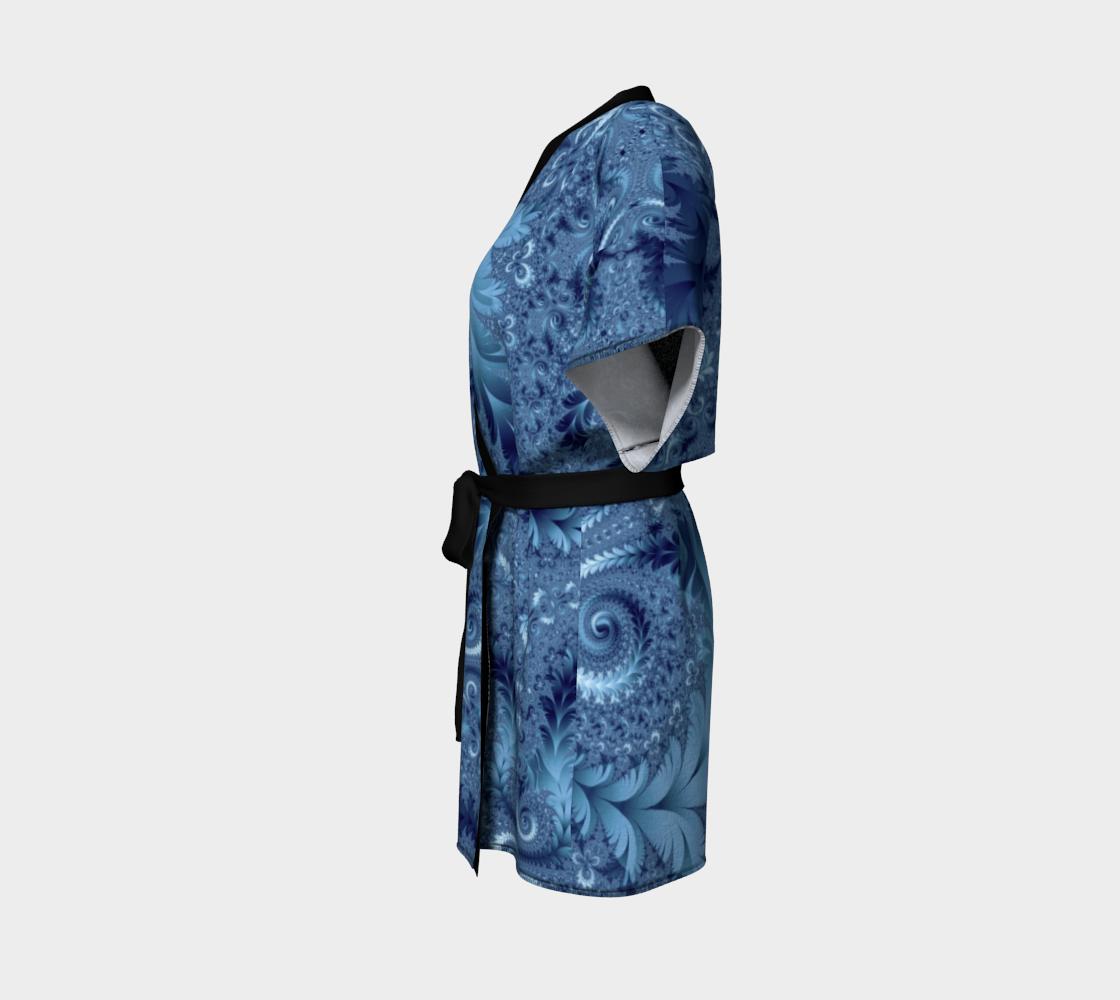 Decorative Light Blue Fern Spirals Pattern preview #2