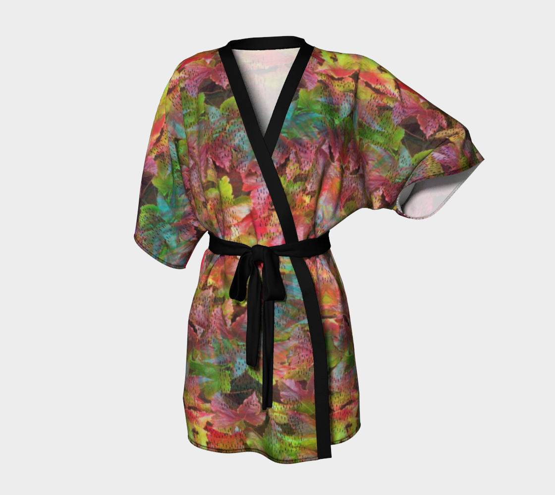 little people in leaves kimono2 preview