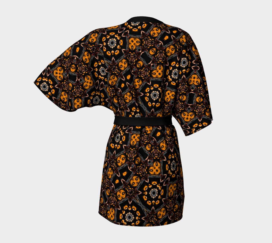 Aperçu de Jungle Green Gold Kimono Robe #4