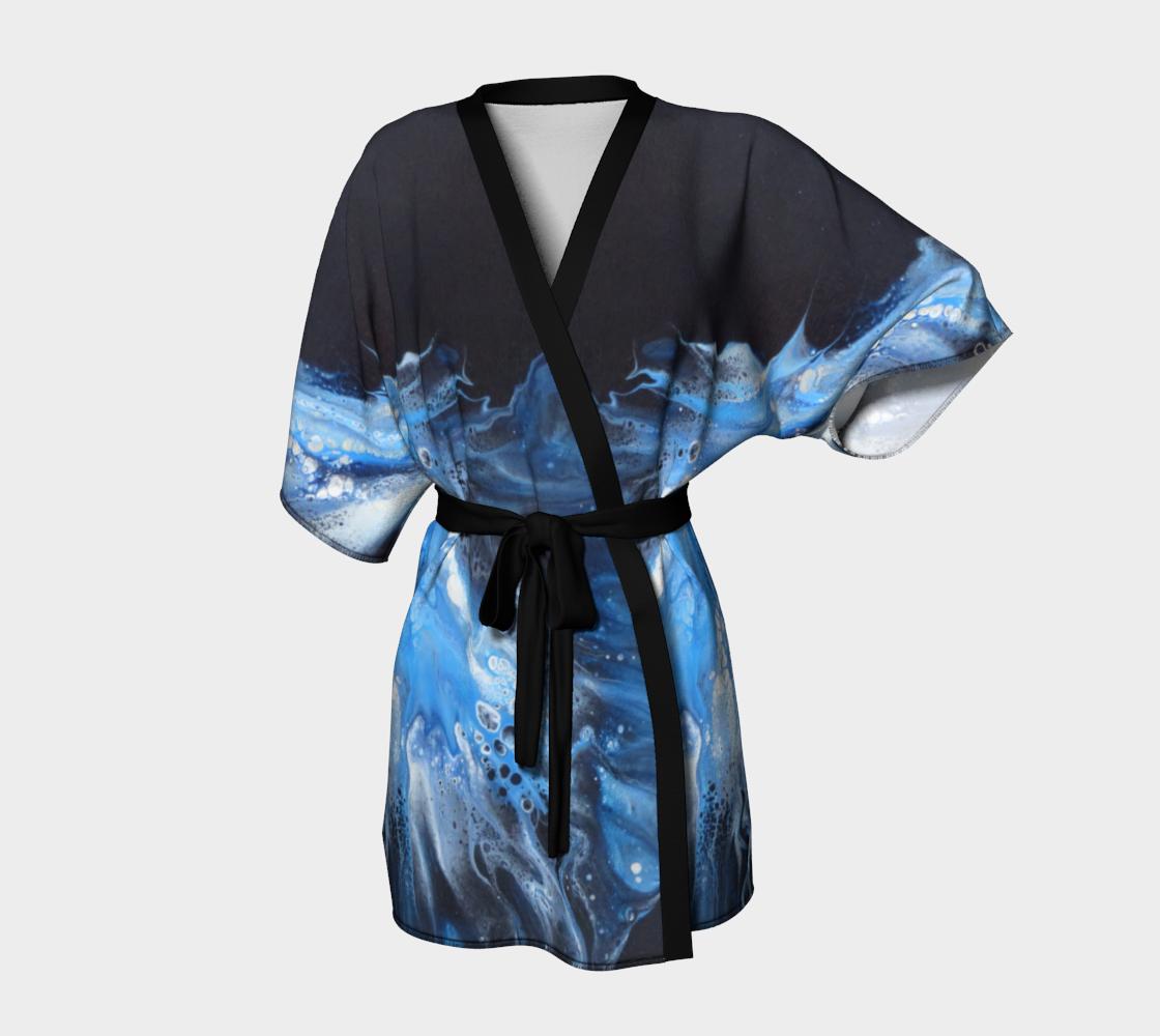 Aperçu de Flambée bleue - Kimono peignoir
