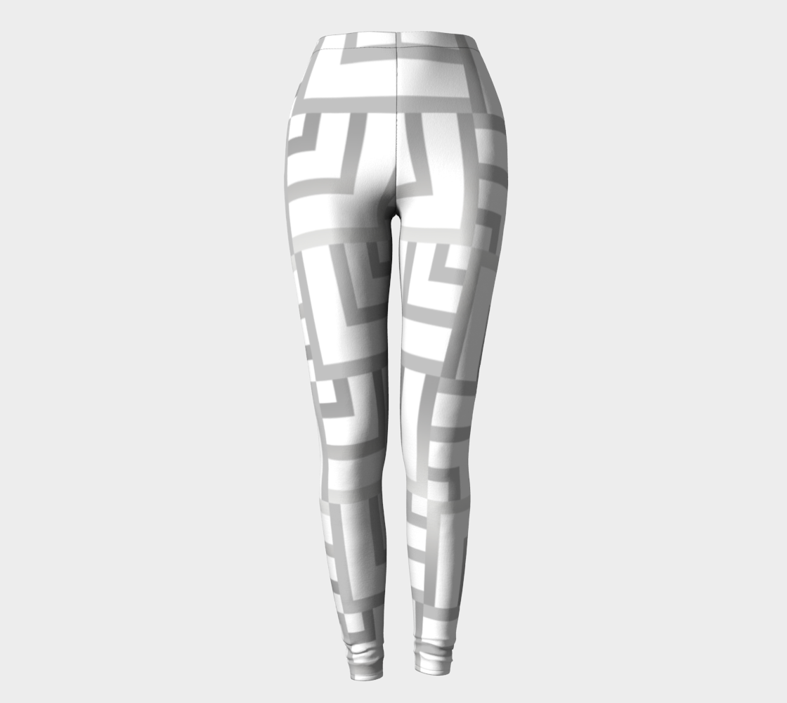 White and Silver Square Leggings preview
