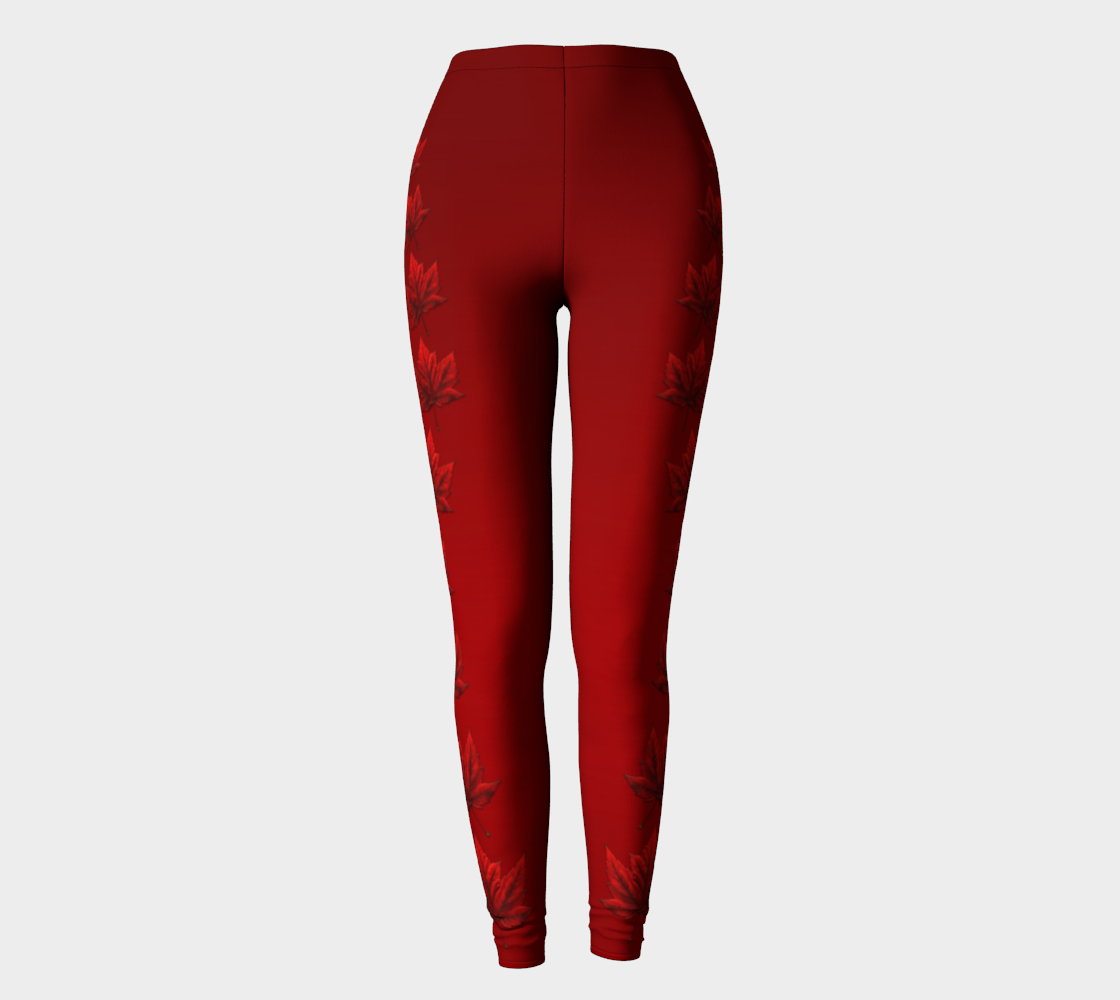 Red Canada Leggings Canada Stretchy Pants preview
