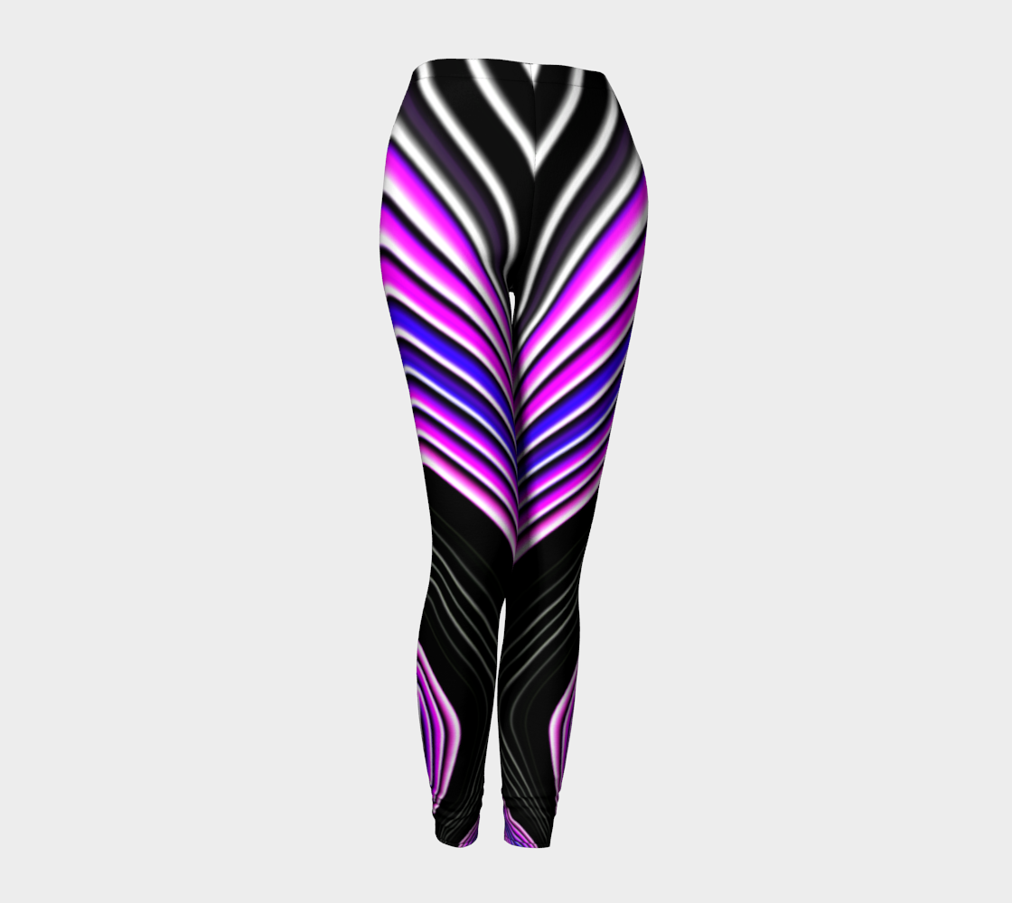 Striped Candy Yoga Leggings - Pink preview #1