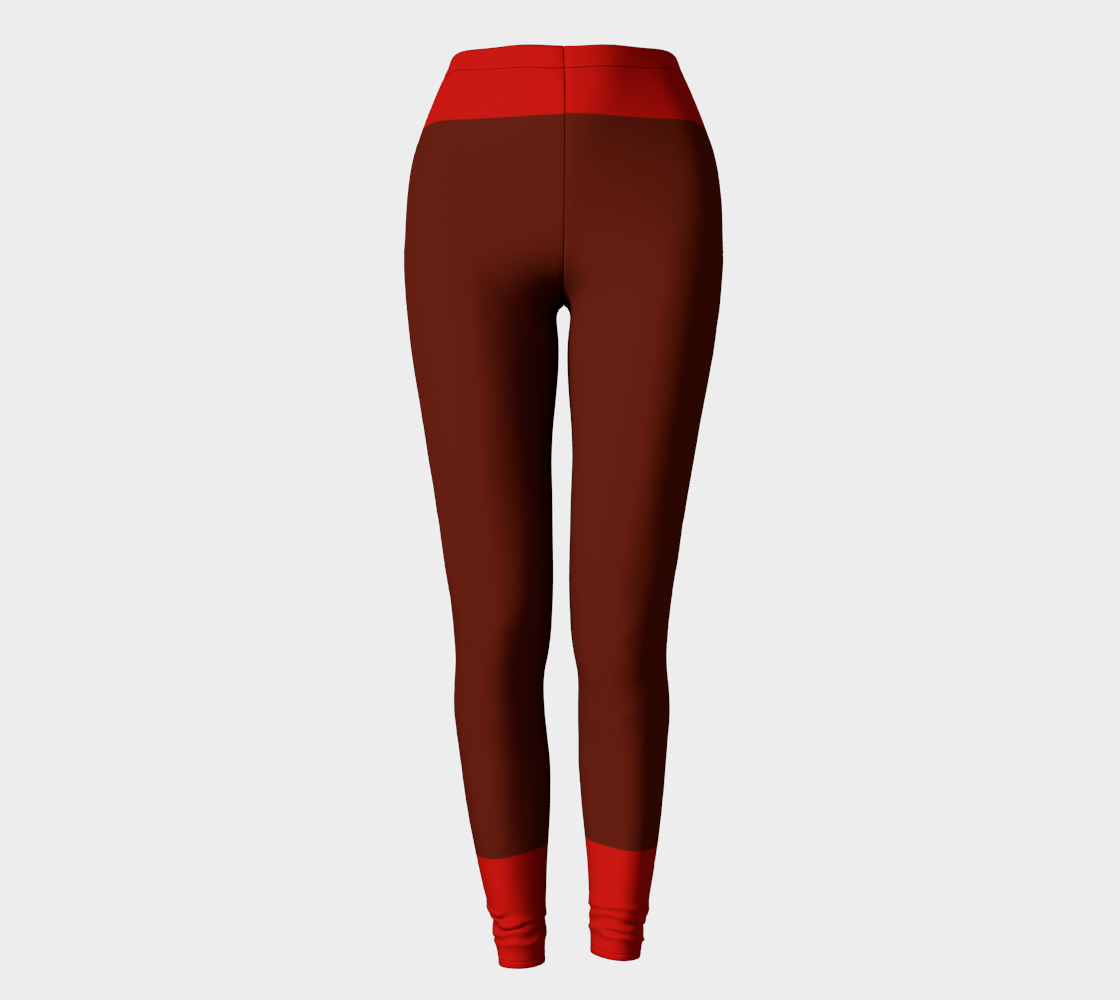 Brown Red  Stripes Compatible Leggings preview