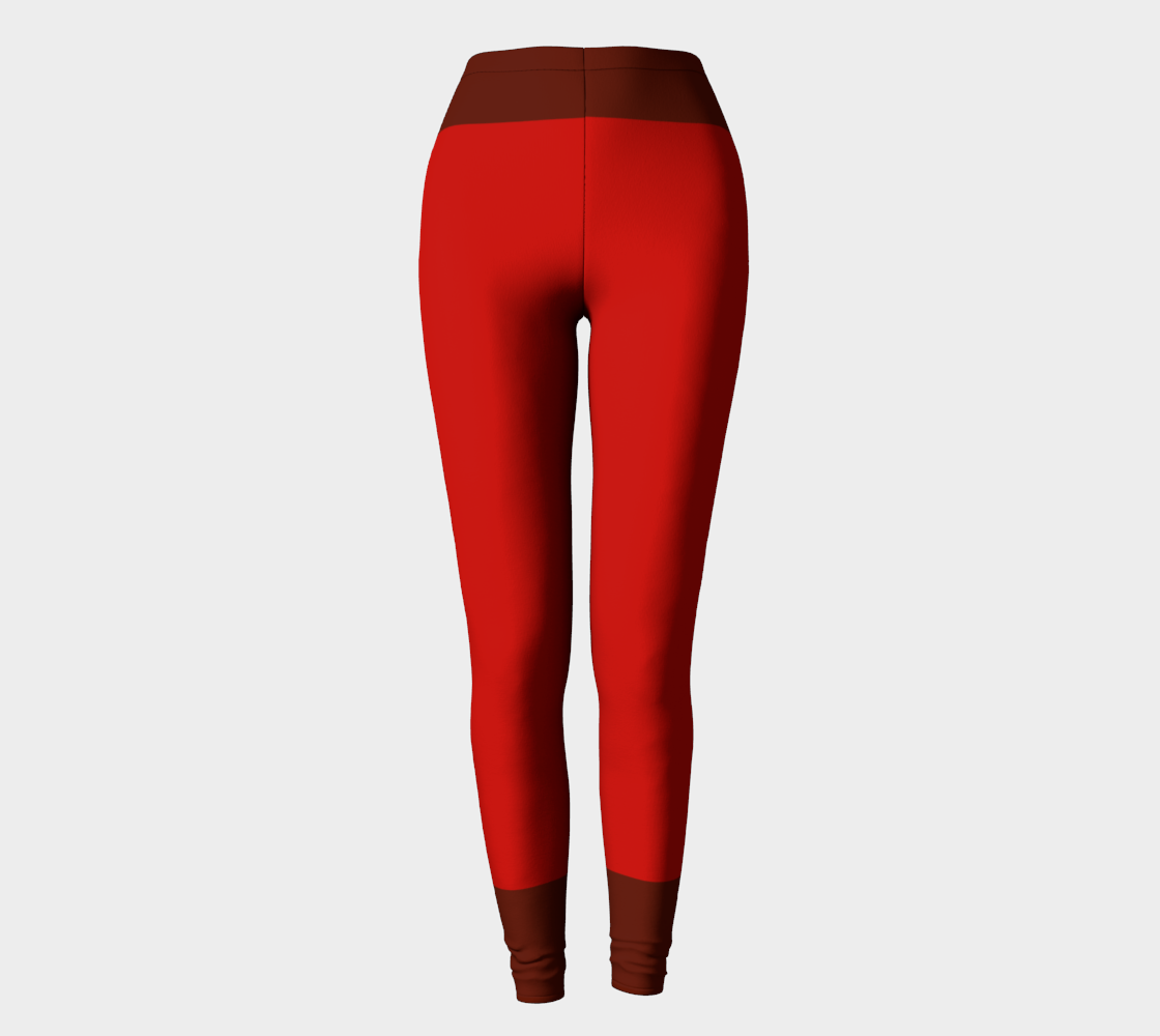 Red Brown Stripes Compatible Leggings preview