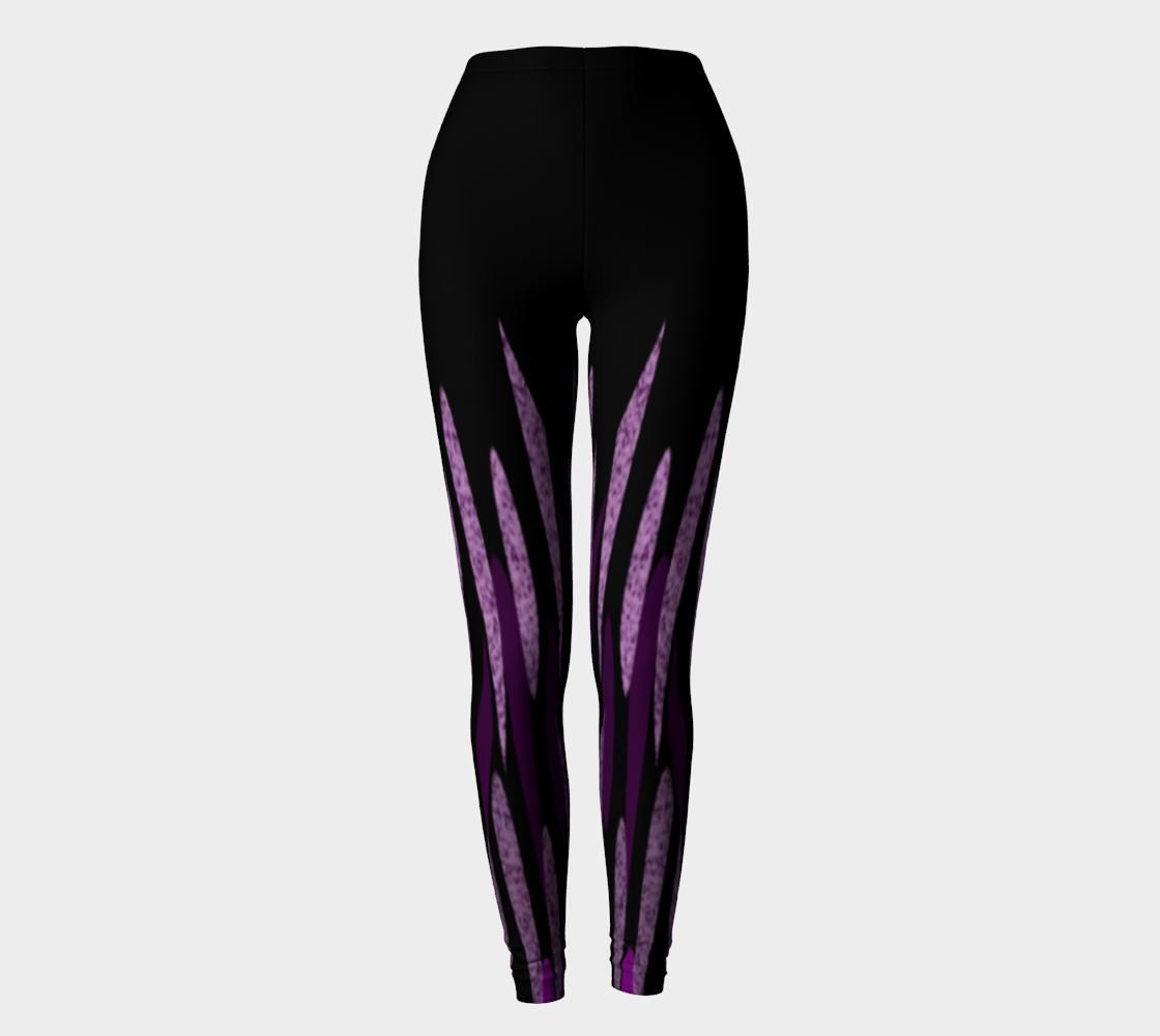 Purple Ice Abstract Leggings preview