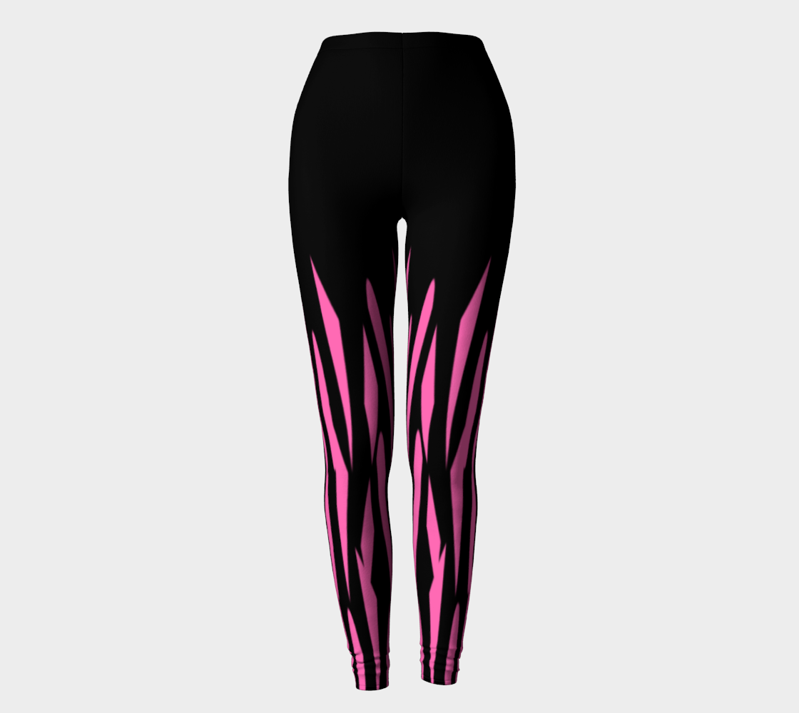Pink and Black Ice Abstract Leggings preview