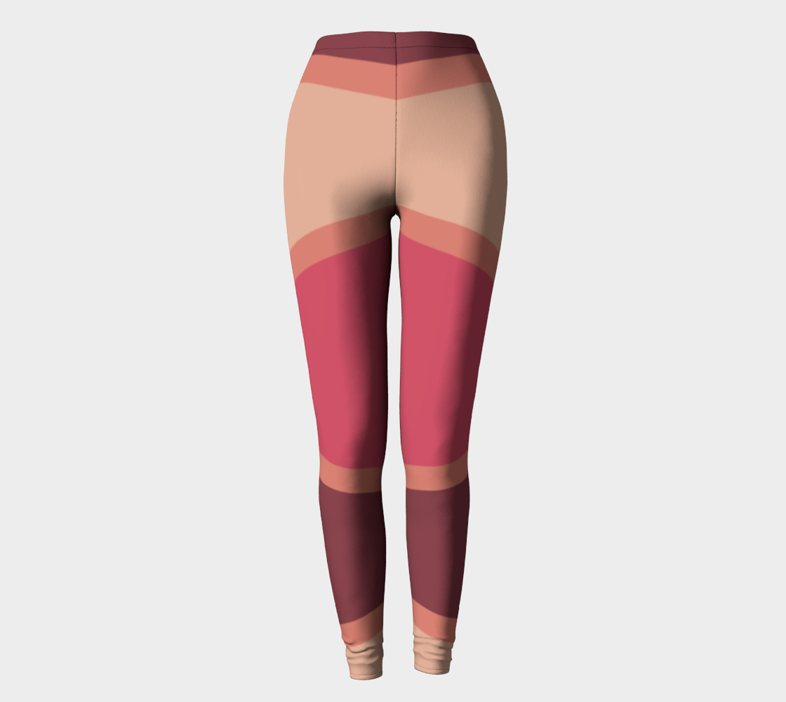 Romantic Blush Triangle Pattern Leggings preview