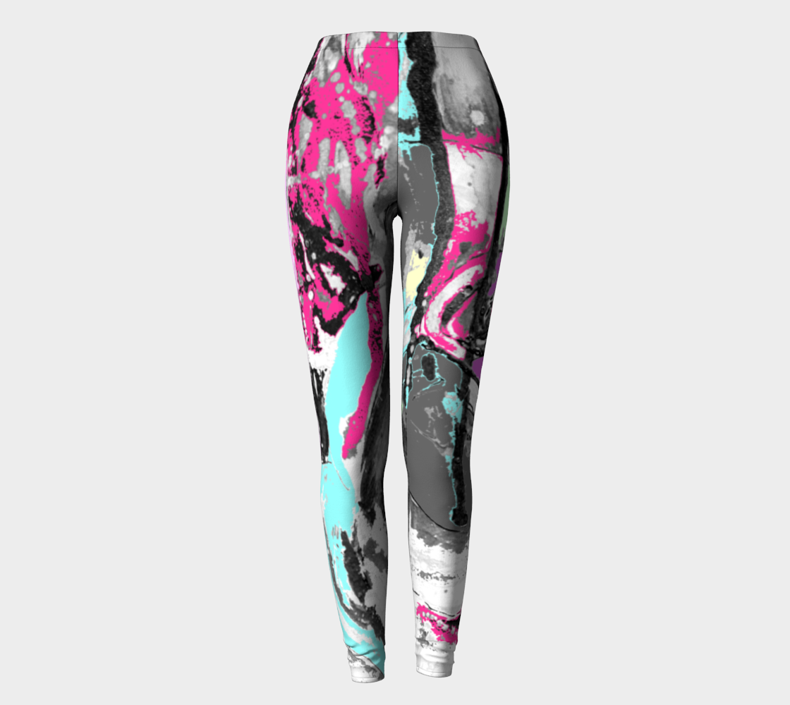 Abstract leggings pink back preview