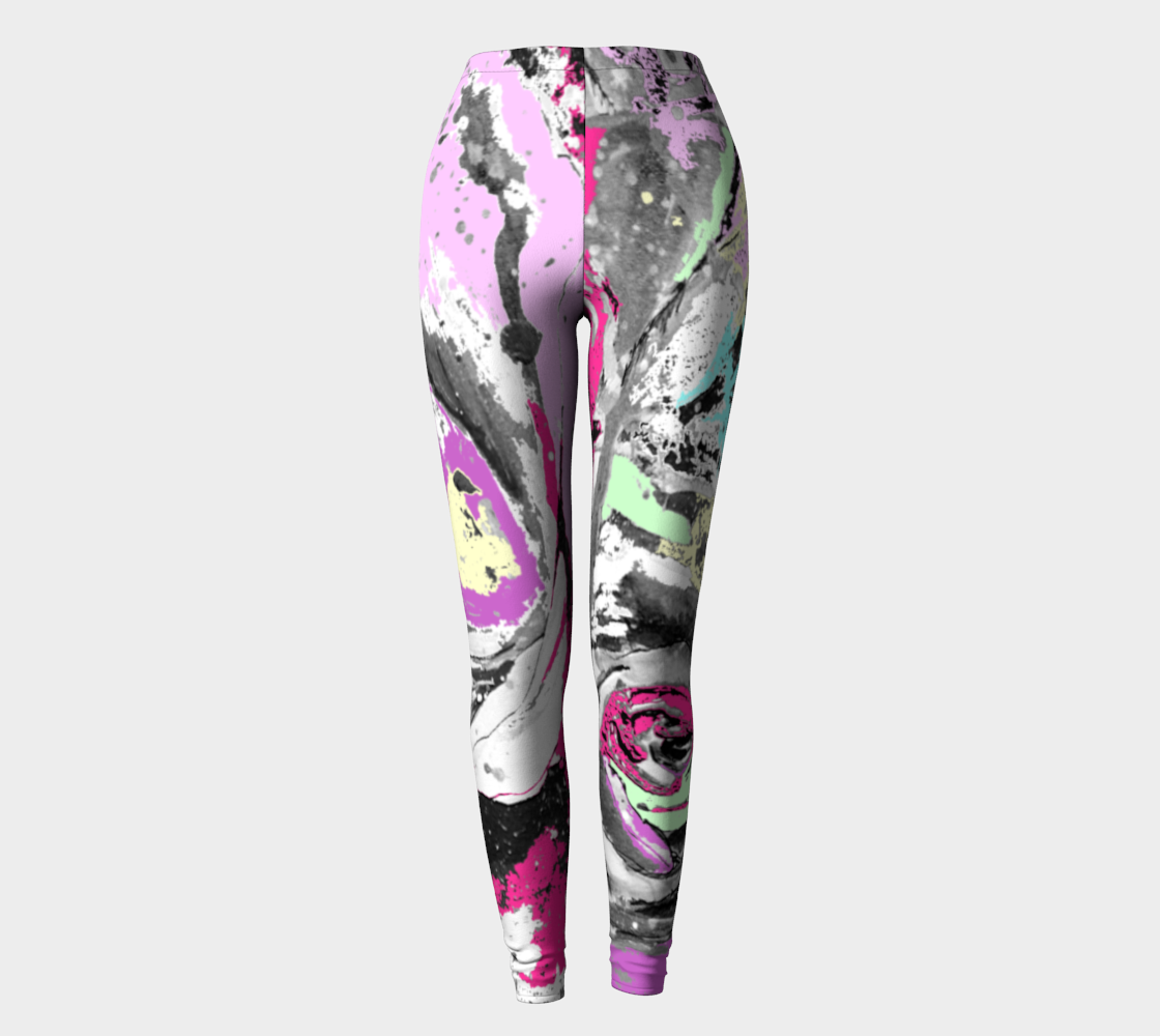 Abstract leggings with a twist preview