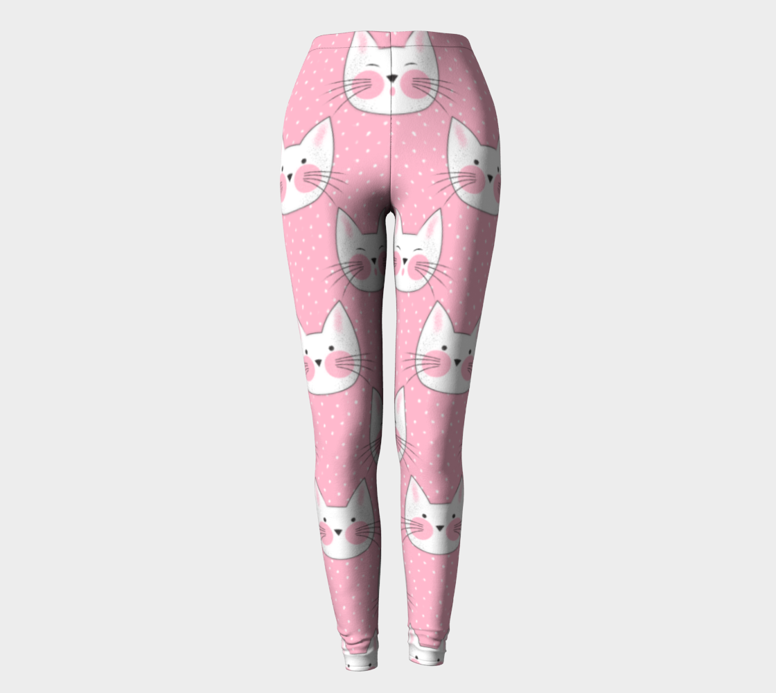 Cute Pink and White Kitty Cats preview