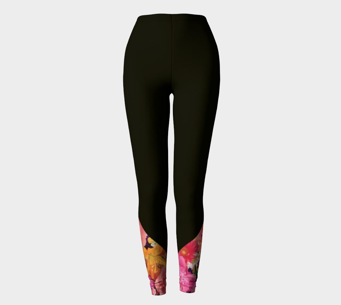Black Floral Leggings preview