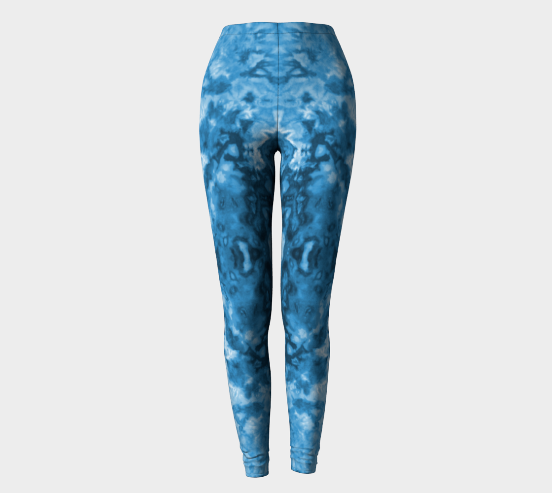 Blue Abstract Leggings preview