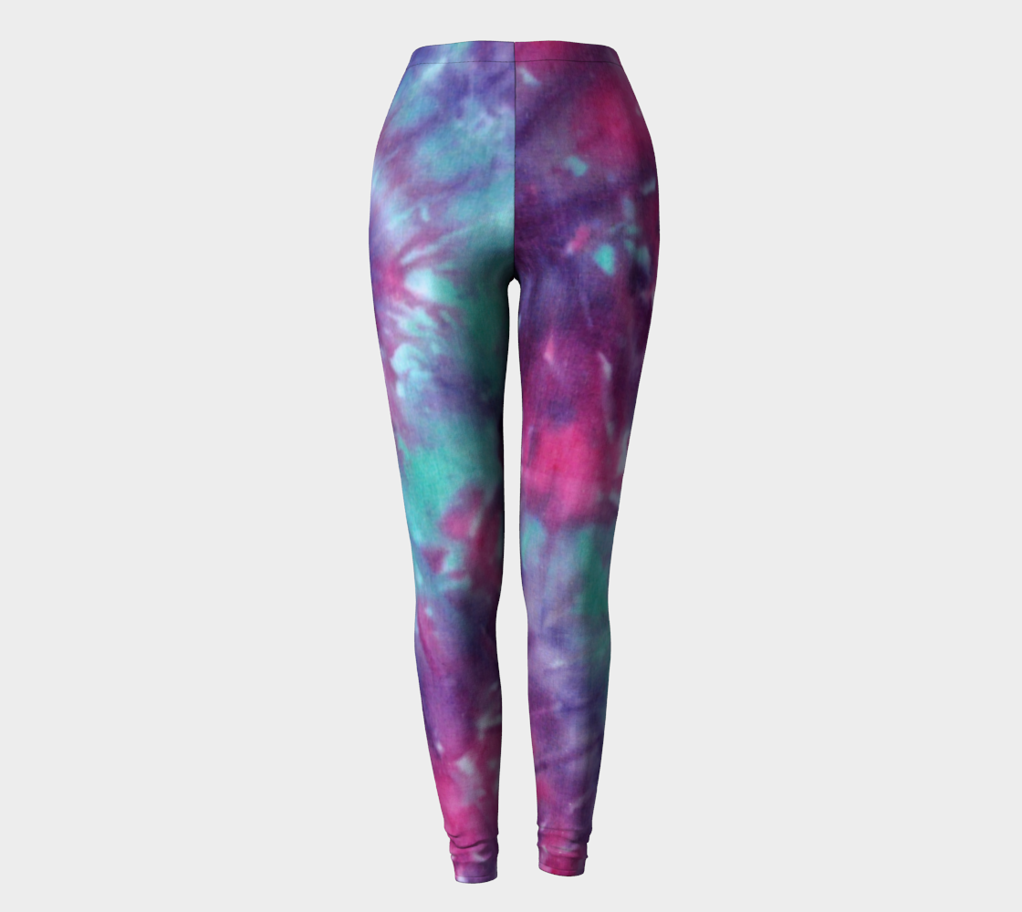 Pink Blue Spiral Leggings preview
