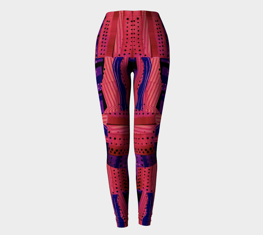 Yoga Leggings high waist--Cranberry Sauce Collage  preview