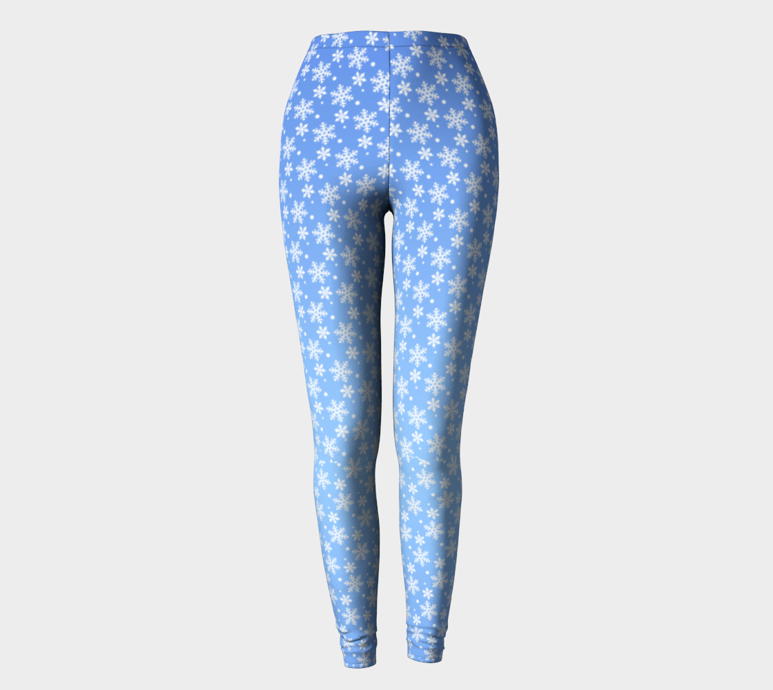 Holiday Leggings Snowflake Stretchy Pants preview