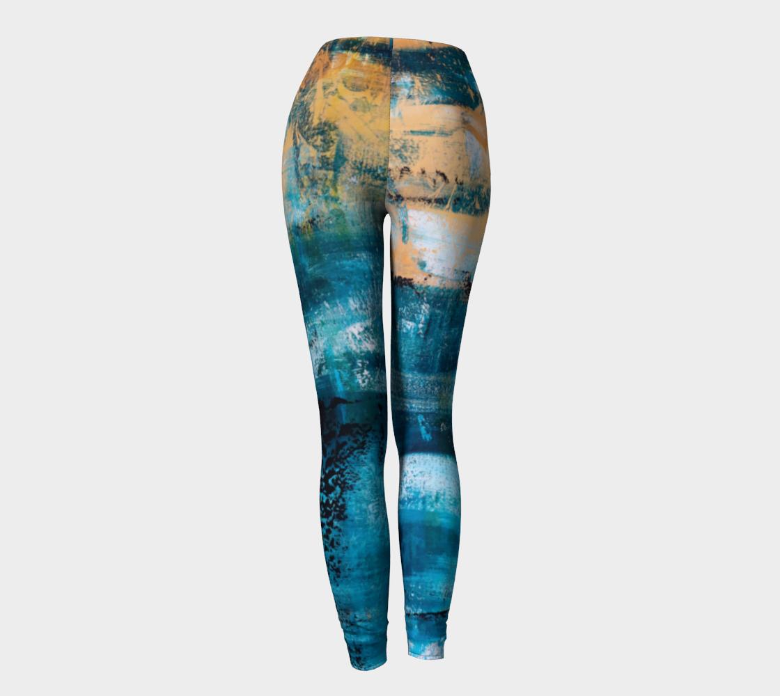 Aperçu de Leggings Blue Yellow Searock Art #4