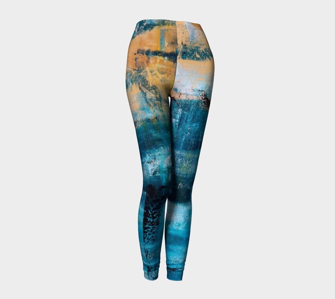 Aperçu de Leggings Blue Yellow Searock Art #1
