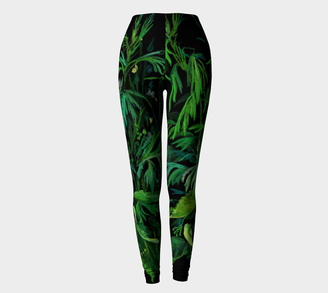 Green & Black Summer Herbs Weed Wild Flowers Floral Botanical preview