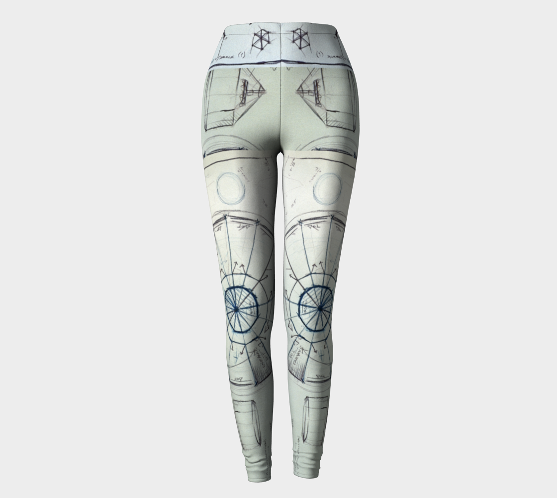 Tour Chamber Schematic / Lady Architect's  Blueprint Leggings preview