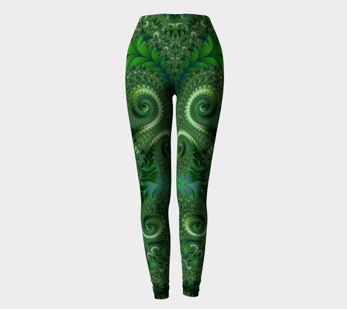 Decorative Green Fern Garden Spirals Pattern preview