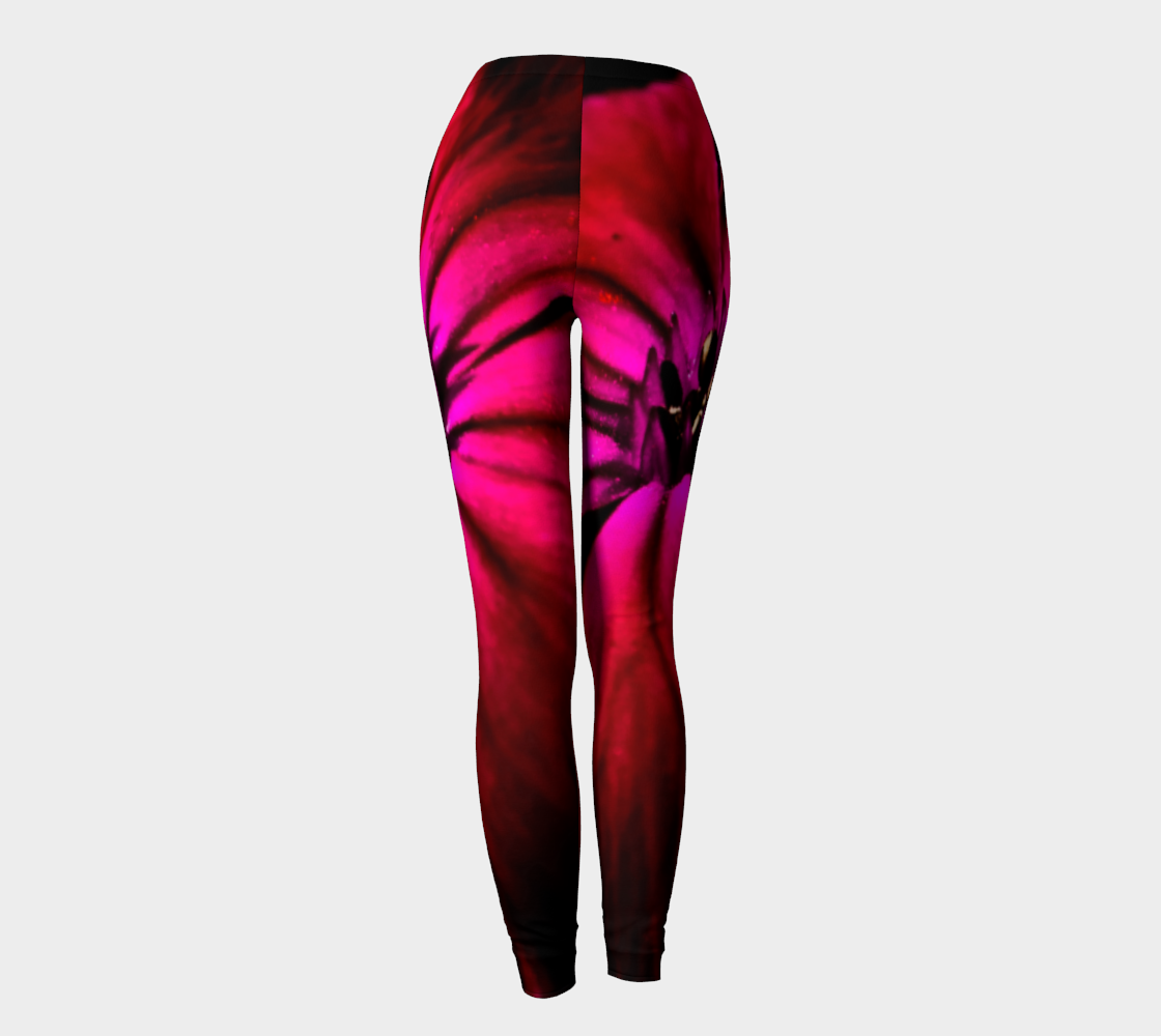 Purple Wild Flower Leggings preview #4