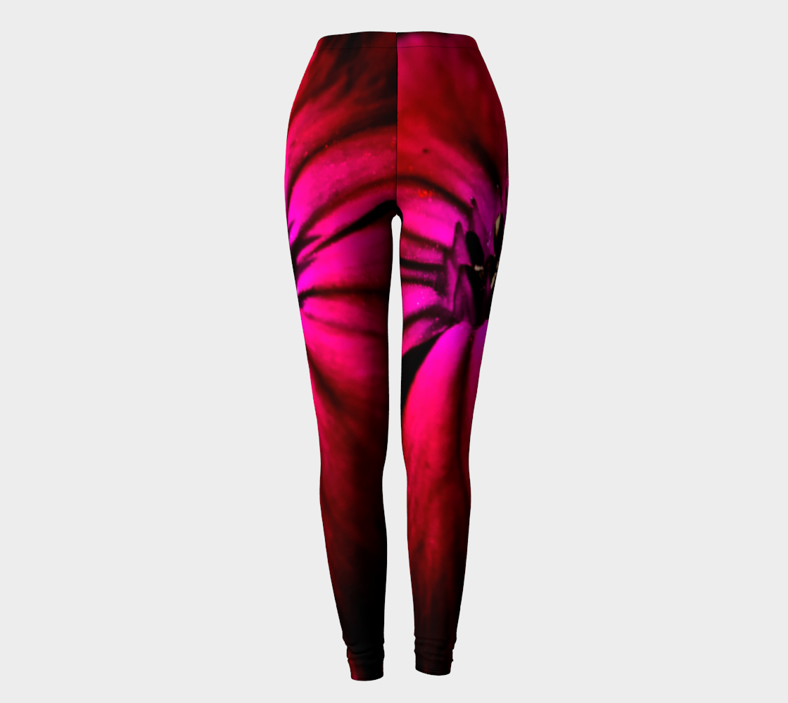 Purple Wild Flower Leggings preview #2
