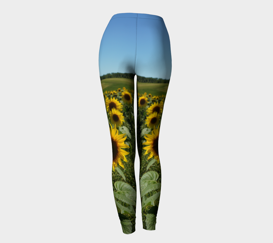 Blue Sky Sunflower Leggings preview #4