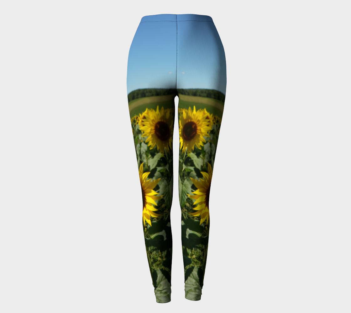 Blue Sky Sunflower Leggings preview