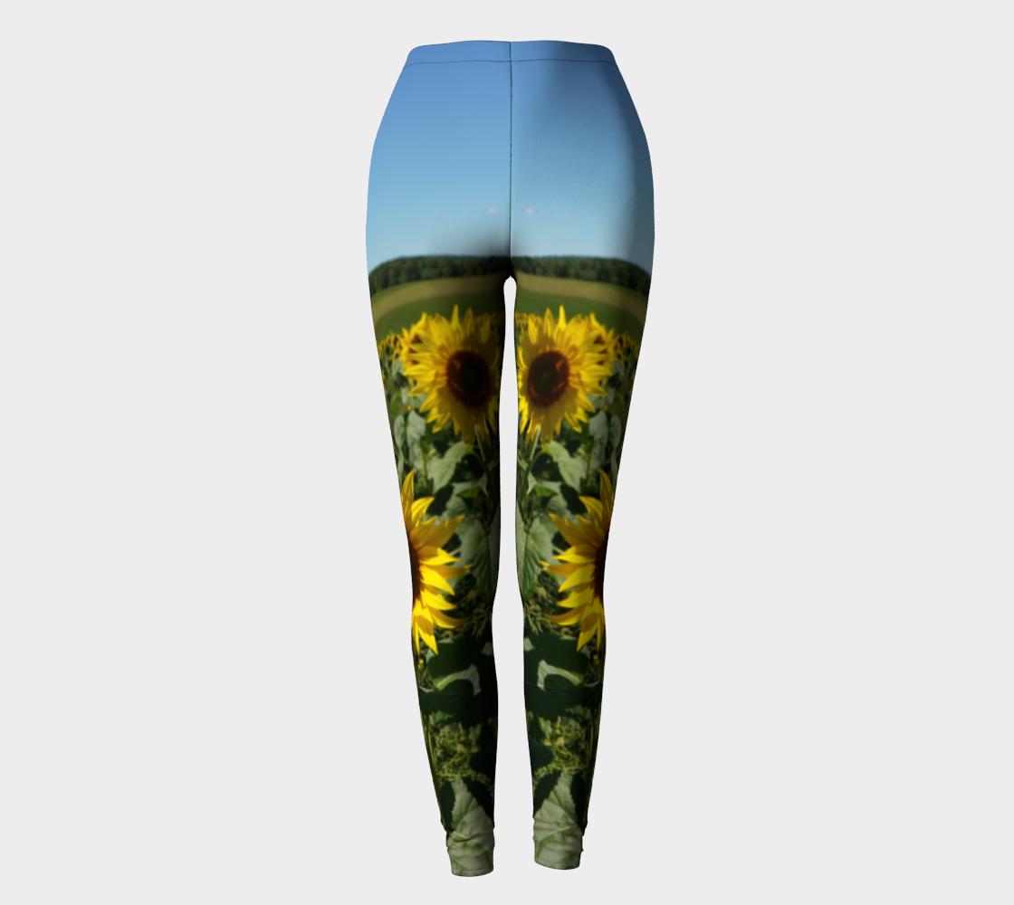 Blue Sky Sunflower Leggings preview #2