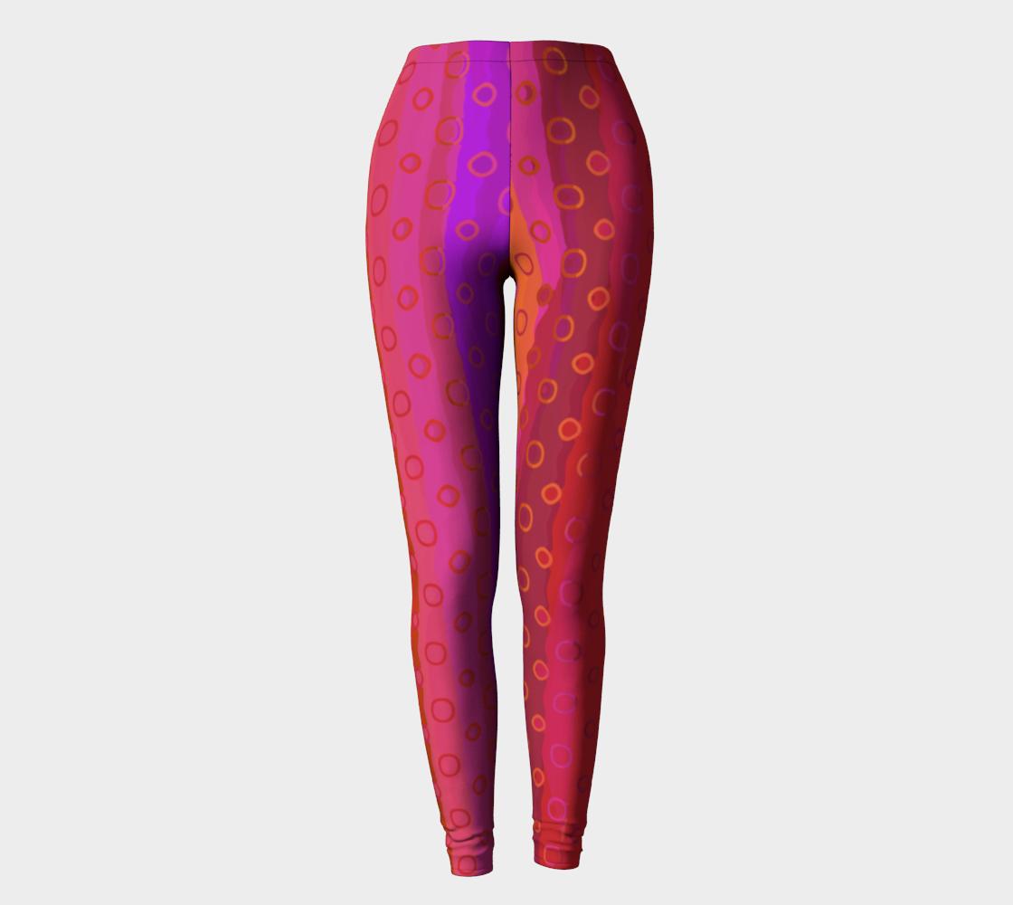 Aperçu de Pink Fuchsia Gold Leggings