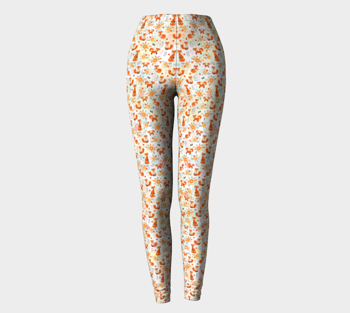Fox and Flower Leggings preview