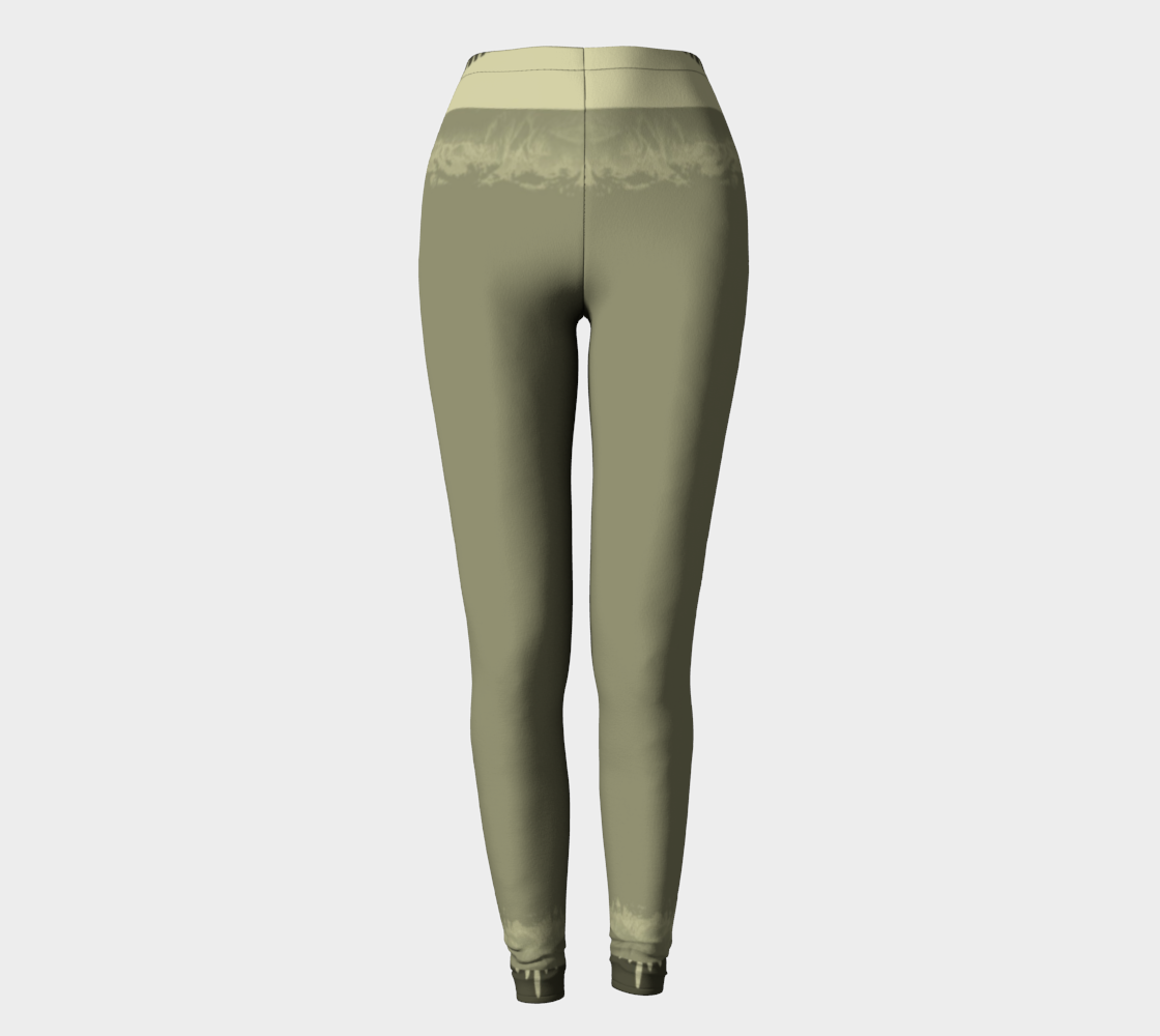 moss green abstract leggings preview