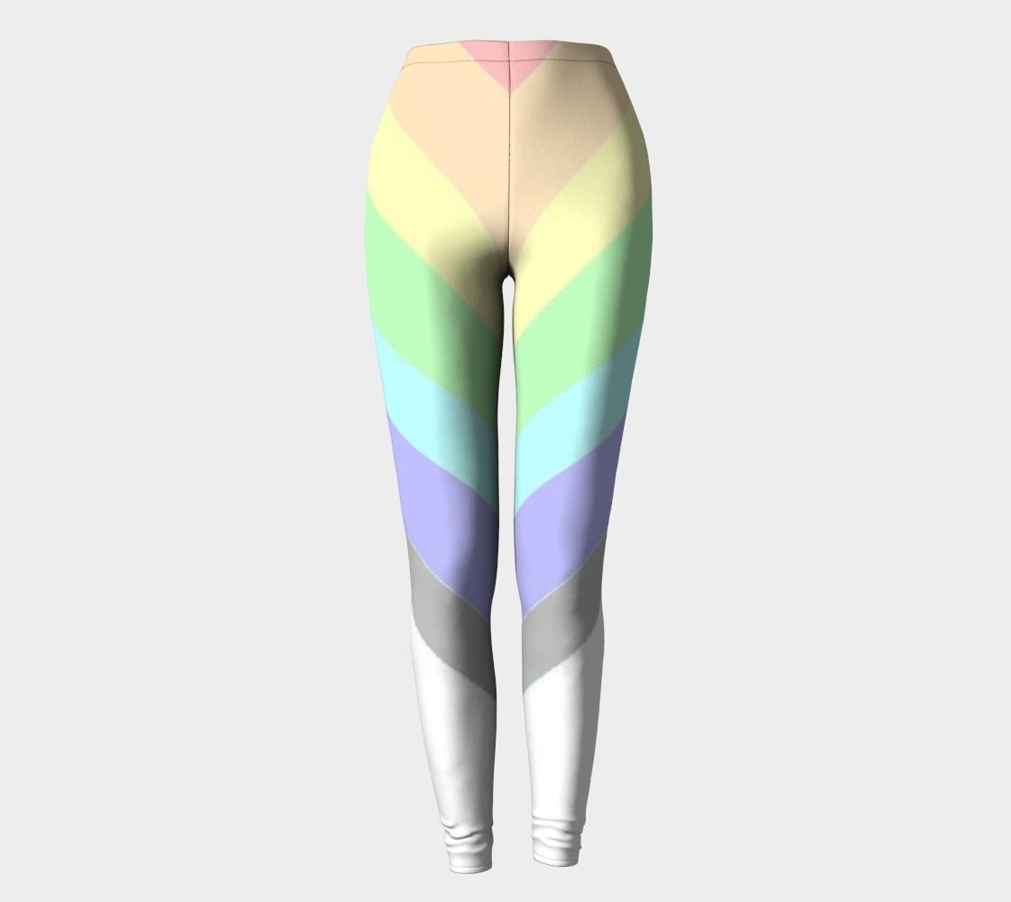 muted rainbow chevron leggings preview