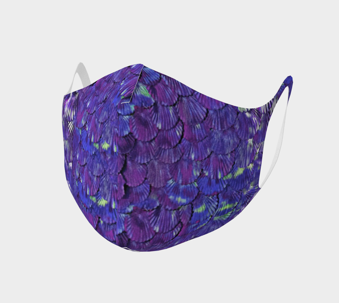 Purple Mermaid Scale Face Covering preview