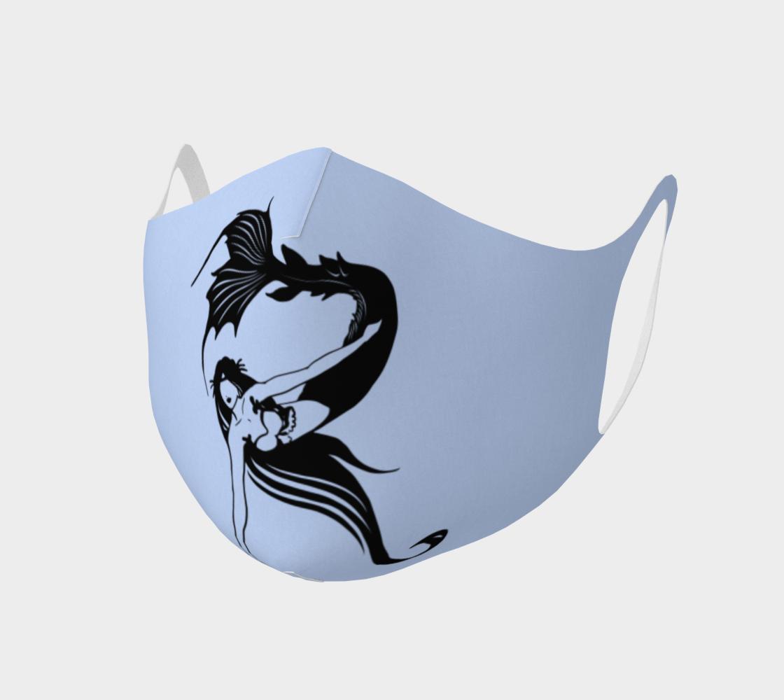"Raina ""R"" Mermaid Logo Sky Blue Face Covering  preview"