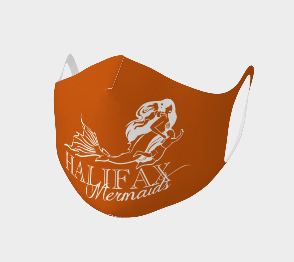 Halifax Mermaids Logo in Orange Face Covering  preview