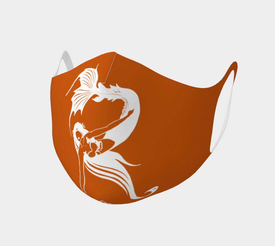"""Raina """"R"""" Logo in Orange and White Face Covering preview"""