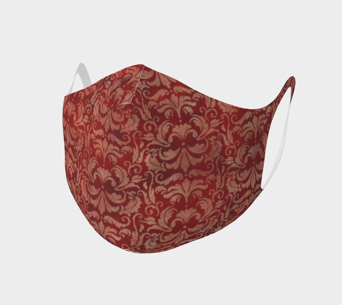 Aperçu de Red Steampunk Classy Face Mask