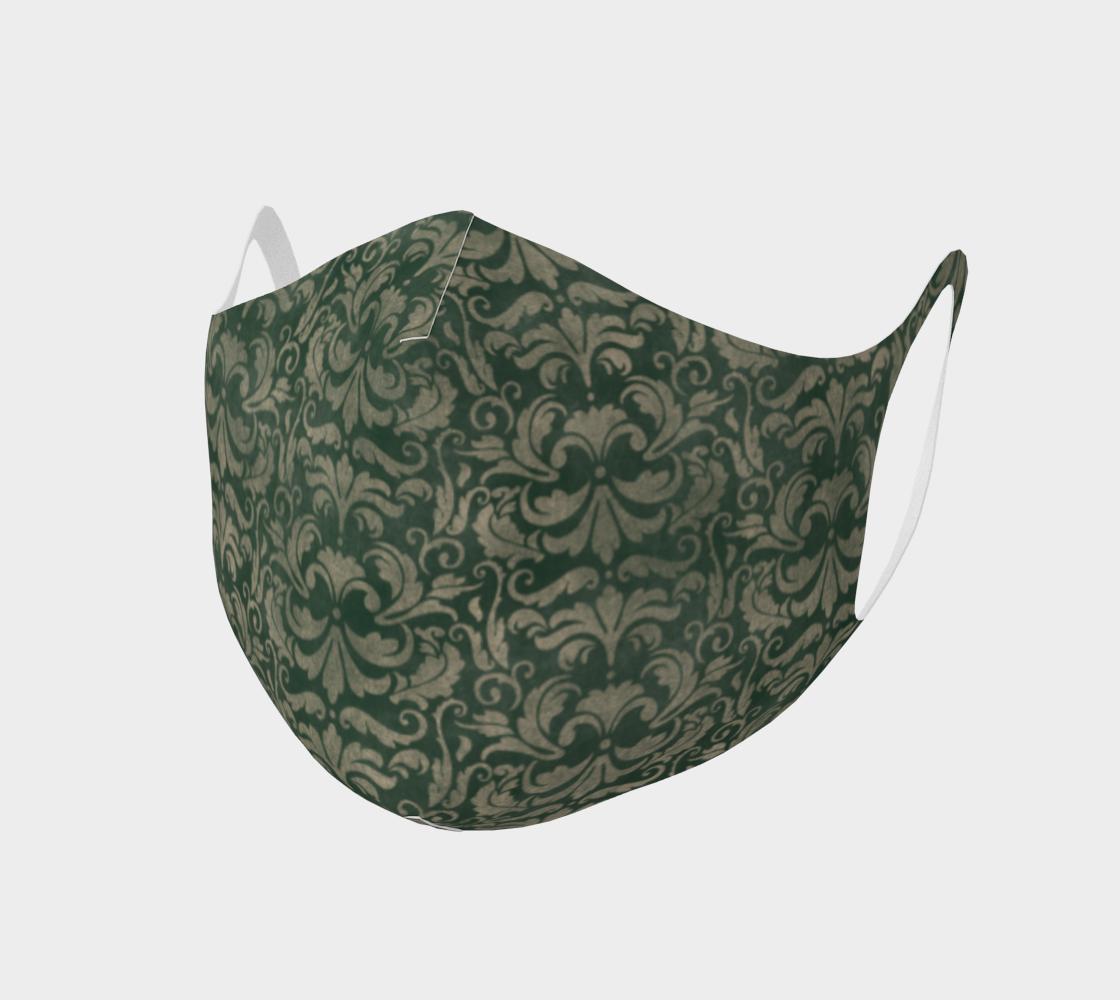 Aperçu de Green Steampunk Classy Face Mask