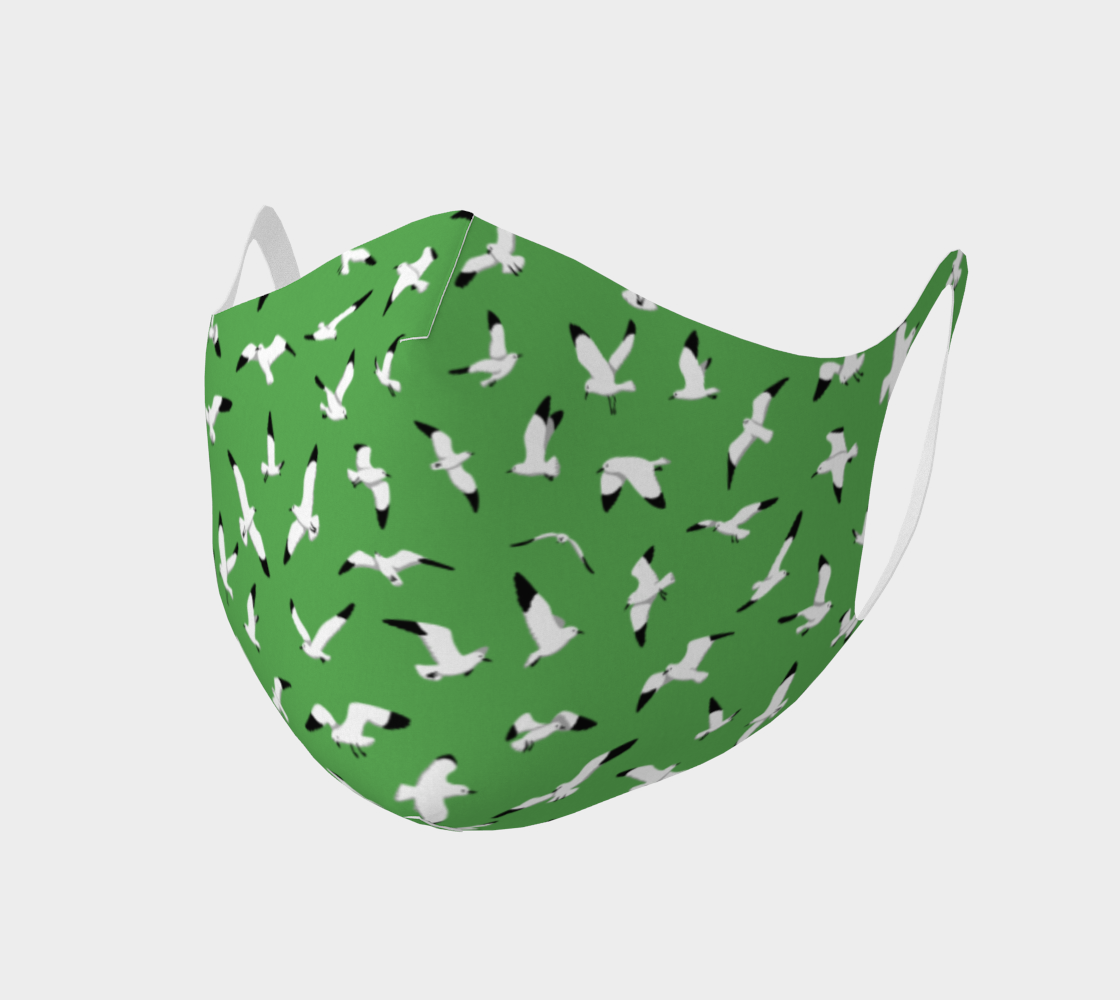 Seagulls on Green - Comfy Mask preview